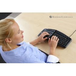 clavier ergonomique filaire vue du dessus