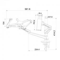 Double bras articulé pour pc portable et tablette 5