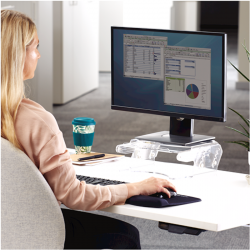 Support moniteur ajustable avec porte documents Clarity 6