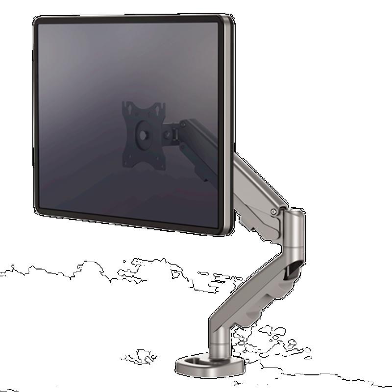 Bras porte-écran simple Eppa™ gris
