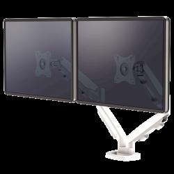 Bras porte-écrans double Eppa™ blanc