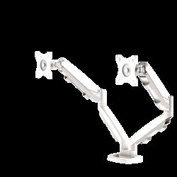 Bras porte-écrans double Eppa™ blanc 2