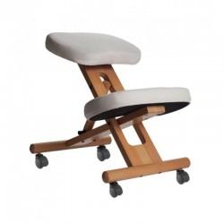 Siège ergonomique assis-genoux blanc